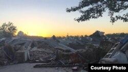 北京朝阳区豆各庄乡一台商企业遭强拆后的外景。 (寰宇兴业提供)