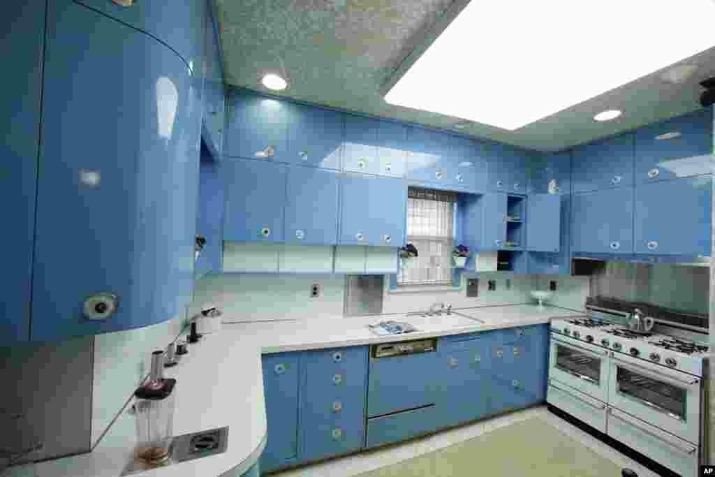 La cocina azul de Armstrong se encuentra en exhibición en el museo.