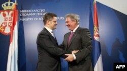 Šefovi diplomatija Srbije i Luksemburga, Vuk Jeremić i Žan Aselborn, tokom susreta u Beogradu