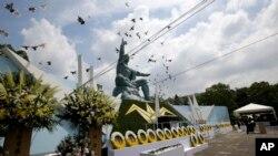 日本南部长崎的纪念原子弹袭击70周年的活动(2015年8月9日)
