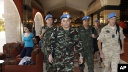 BM gözlemcileri öncü ekibi Şam'da kaldıkları otelde