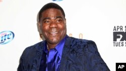 "FILE - Actor Tracy Morgan attends the FX Networks Upfront premiere screening of ""Fargo"" at the SVA Theater in New York, April 9, 2014."