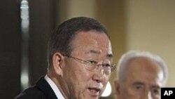 پرتاب کفش ها به سوی سرمنشی عمومی ملل متحد در فلسطین
