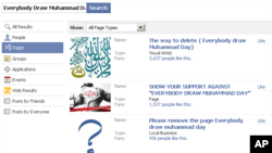 'Everybody Draw Muhammad Day' drew many protest pages on Facebook