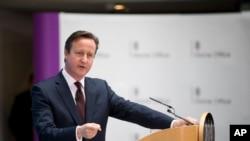 英国首相卡梅伦 (资料照片)