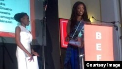Nicolle Ndiweni was voted Youth Leader of the Year in the BEFFTA awards. (Photo: Nicole Ndiweni)