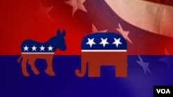 美國兩個主要的政黨民主黨和共和黨