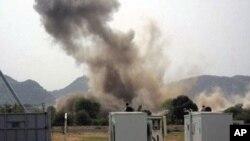 图为南科尔多凡州的一处联合国设施6月14日发生爆炸。