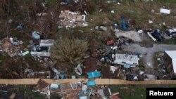Một nơi bị ảnh hưởng vì trận bão Ida ở Louisiana.