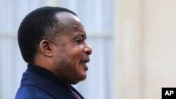 Denis Sassou Nguesso, le président du Congo-Brazzaville (AP Photo/Christophe Ena)