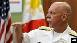 U.S. Pacific Fleet Commander Adm. Scott Swift recently spoke to U.S. allies in the Asia-Pacific area. (AP Photo/Bullit Marquez)