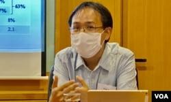 香港伍伦贡学院社会科学院助理教授李敏刚 (美国之音/汤惠芸)