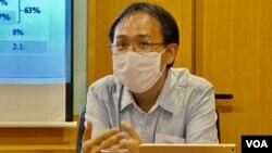 香港伍倫貢學院社會科學院助理教授李敏剛。(美國之音 湯惠芸)
