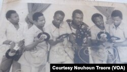 "Musicians of the Orchestra ""Echo-Del-Africa"" back in the days. The groups songs are part of ""Bobo Yeye"" a compilation."