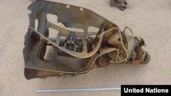유엔 예멘제재위원회가 지난해 보고서에서 공개한 예멘 후티반군의 단거리탄도미사일 탄두부. 위원회는 이 미사일이 북한 '화성-6' 미사일의 개량형일 가능성이 높다고 지적했다.