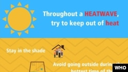 WHO Heatwave safety precautions