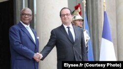 Ibrahim Boubacar Keïta rencontre François Hollande à l'Elysée le 27 juillet 2016. (Elysee.fr)