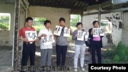 南通居民张亮和其他强拆受害者维权抗争(网络图片)