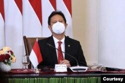 Menteri Kesehatan Budi Gunadi Sadikin dalam telekonferensi pers usai acara Global COVID-19 menyatakan Indonesia siap berkontribusi dalam tata ulang sistem ketahanan kesehatan global. (biro pres)