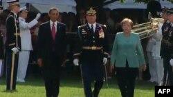 Президент Обама привітав у Білому домі канцлера Німеччини Анґелу Меркель