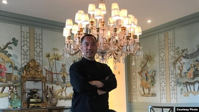郭文贵在纽约的家里(郭文贵推特图片)