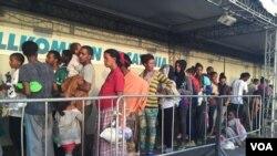 Muhaajiriinta Eritrea oo saf ugu jira in la diiwaangeliyo