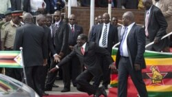 ZimPlus: Mugabe Stumbles, Falls Down At Harare Airport, Wednesday, February 4, 2015