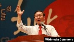 한국 진보정당 정의당의 노회찬 의원.