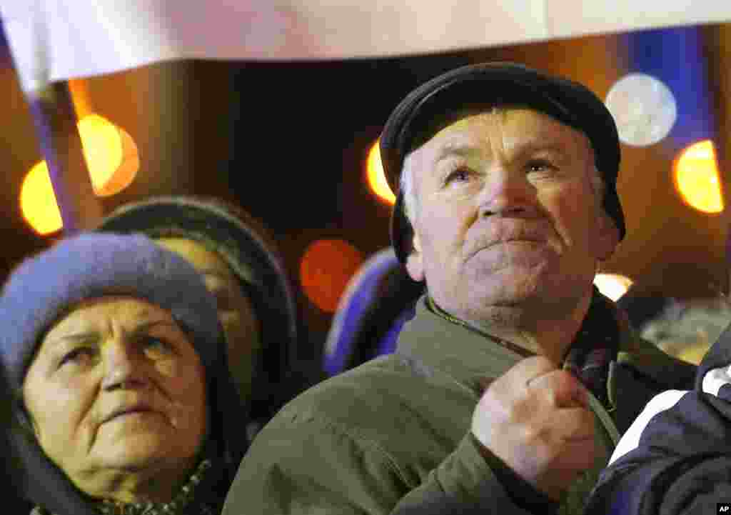 Ukrainians attend a rally in Independence Square in Kyiv, Dec. 2, 2013.
