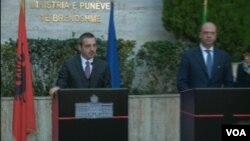Ministri i brendshem shqiptar Saimir Tahiri dhe ministri italian Angelino Alfano