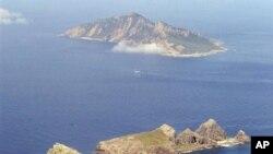 """中国称""""钓鱼岛"""",日本称""""尖阁群岛""""的群岛(资料照片)"""