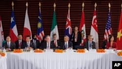 지난해 11월 중국 베이징에서 환태평양경제동반자협정 참가국 정상들이 회담을 가졌다. (자료사진)