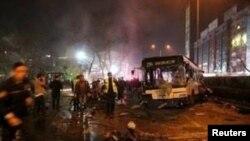 Mesto eksplozije u Ankari
