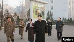 Severno-korejski lider Kim Džon Un u Pjongjangu.10.12.15.