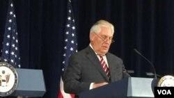 美国务卿蒂勒森(美国之音莉雅拍摄)