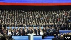 Владимир Путин на съезде партии «Единая Россия»