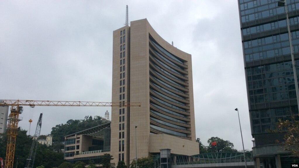 中国中央政府驻澳门特别行政区联络办公室(美国之音记者申华 拍摄)