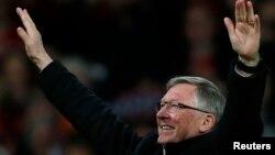 Le manager de Manchester United, Alex Ferguson, à Old Trafford, Manchester, 22 avril 2013.