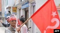 尼泊尔毛派支持者前往加德满都参加五一集会