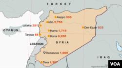 Deaths Across Syria