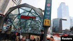 서울 지하철 강남역 입구. (자료사진)