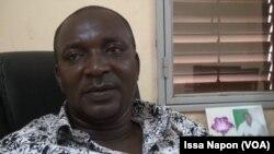Ibrahim Rabo, président de l'Union des chauffeurs routiers du Burkina Faso, Ouagadougou, 9 août 2017. (VOA/Issa Napon)