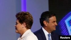 Dilma Roussef e Aécio Neves