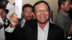 Pemimpin oposisi yang kini ditahan, Kem Sokha (foto: dok).