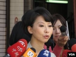 在野党民进党立委陈亭妃9月27号于立法院 (美国之音 张永泰)