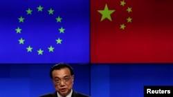 中國總理李克強2019年4月9日在出席中歐峰會後出席聯合記者會(路透社)