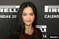 Chinese actress Yao Chen poses at the launch of the Pirelli Calendar 2016 in London, Nov. 30, 2015.
