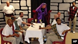 "Shakespeare Behind Bars' inmate ensemble cast performs ""Macbeth"" in 2009."