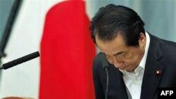 Thủ tướng Nhật Bản Naoto Kan tại cuộc họp báo về chính sách và cơ cấu quản lý hạt nhân tại dinh thủ tướng ở Tokyo, ngày 18 tháng 5, 2011