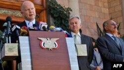 Britanski šef diplomatije govori na konferenciji za novinare nakon susreta sa predsednikom Jemena
